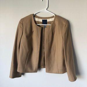 J Crew 100% wool tan jacket sz 8